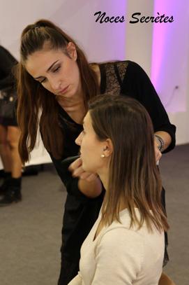 Les essais make-up et coiffure